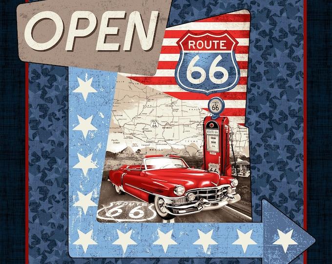 All American Road Trip - 36 Inch - Cotton Woven Fabric Panel - Studio E - 4312P-77