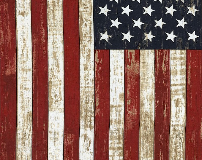 """American Flag Cotton Woven 24"""" Panel by Timeless Treasures"""