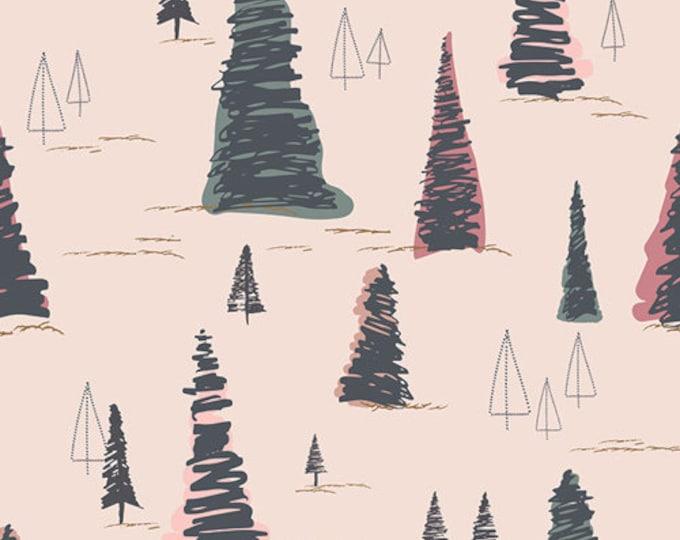 Art Gallery Fabric - Sparkler Fusion - Pine Tree  Cotton Woven
