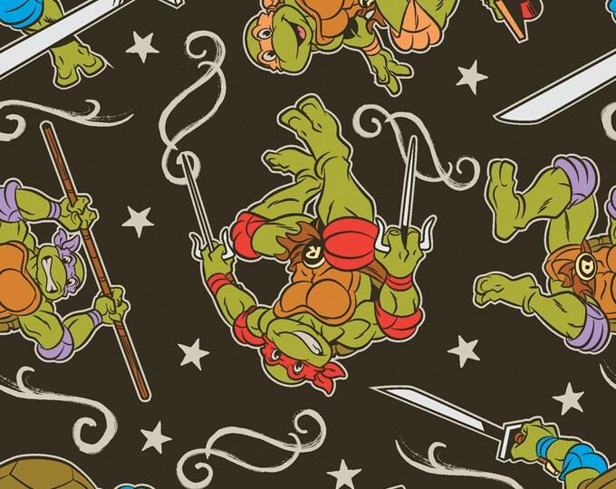 Teenage Mutant Ninja Turtles - Action - Cotton Woven Fabric - Springs Creative