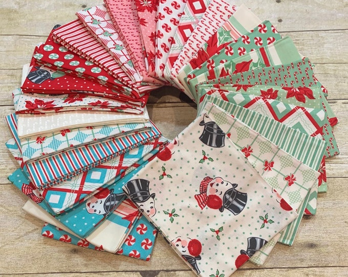 "Moda Fabrics - Sweet Christmas by Urban Chiks - Jelly Roll 2-1/2"" Strips - 40 per roll - Cotton Woven Fabric"