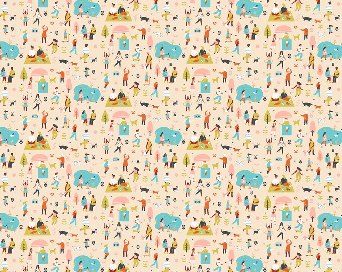 CLEARANCE -   FIGO Fabrics - Perfect Day by Naomi Wilkinson - 90019-11 Cotton Woven Fabric - Price is per yard