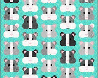 Pattern - Sew Fresh Quilts - My Pet Hamster Quilt Pattern