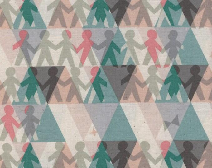Cotton + Steel Fabric - Flutter -  Paper People Spearmint cotton woven fabric