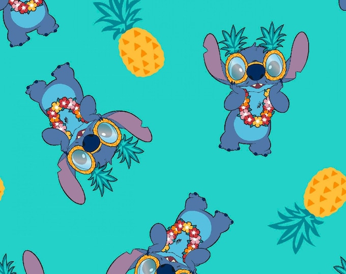 Springs Creative - Licensed Disney - Lilo & Stitch Pineapple # 73448A620715 - Cotton Woven Fabric