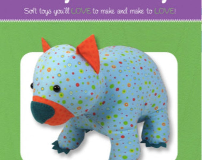 PATTERN ONLY - Wodger Wombat Pattern, FF4620, From Funky Friends Factory