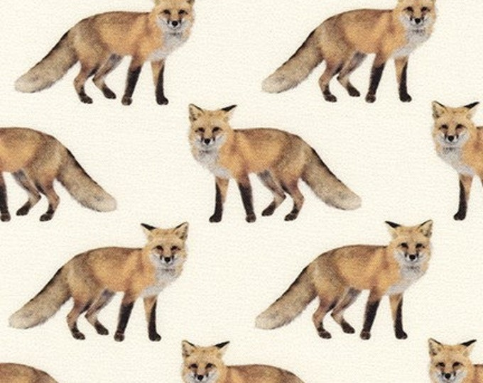 Animal Kingdom Natural Fox Cotton Woven