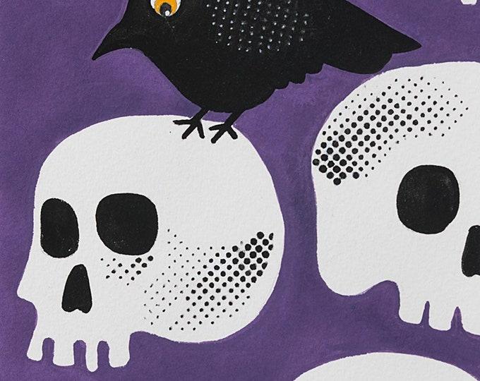 Alexander Henry Fabrics - Purple Tricky Crow #8744A Cotton Woven Fabric