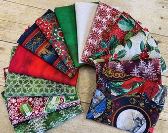 In The Beginning Fabrics - Winter Around the World by Jason Yenter - Fat Quarter Bundle of 13 Prints- Cotton Woven Fabric