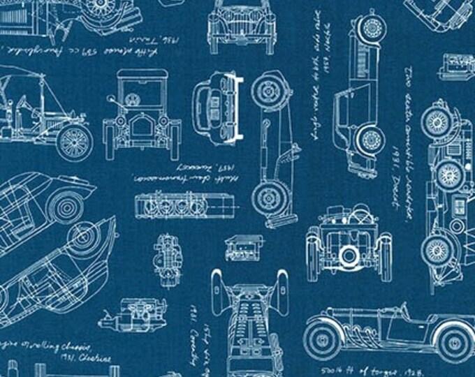 Robert Kaufman - Vintage Blueprint - Indigo Automotive ACV-15674-62 INDIGO Cotton Woven Fabric
