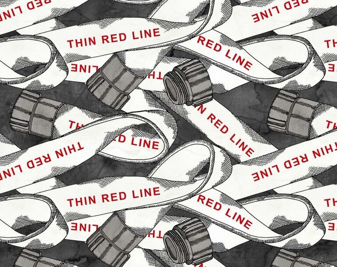 Thin Red Line - Fire Hose - Cotton Woven Fabric - Blank Quilting 9324-99