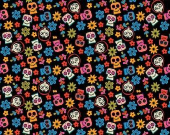 Disney's Pixar Coco Skull Toss Cotton Woven Fabric