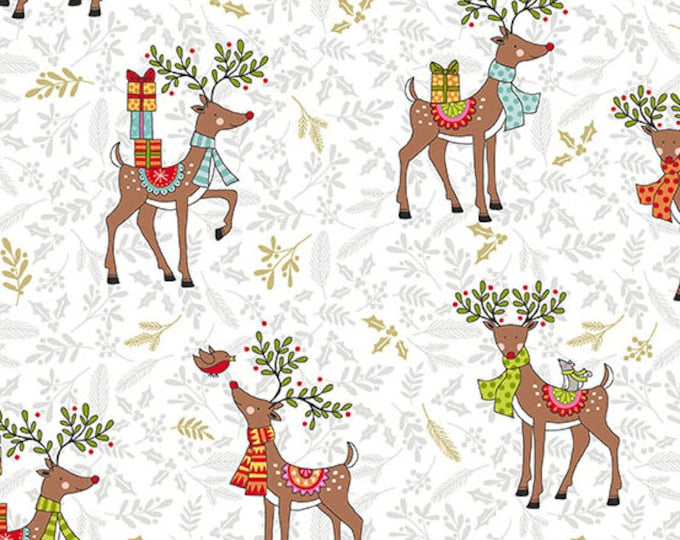 Andover Fabrics - Reindeer on White TP-2119-1 - Cotton Woven Fabric