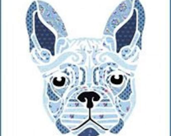 Fleur the Frenchie 20 x 20 laser cut Kit The pieces are are already lined with fusible fabric for super easy beginner applique