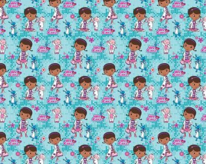 Springs Creative - Disney - Doc McStuffins - We Care Cotton Woven Fabric