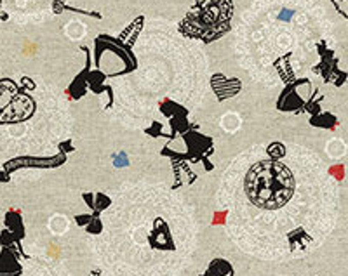 A Girl's Story, Alice in Wonderland 40698-10 Alice allover on gray by Lecien Fabrics