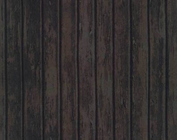 Robert Kaufman Fabrics - Surfaces - Wood - Charcoal - Cotton Woven Fabric