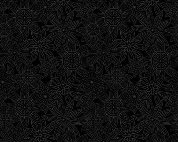 Blank Quilting - Mandala Tango - Black Stacked Mandalas #9654-99 Cotton Woven Fabric