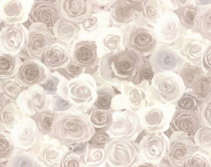 Lecien Fabrics - Rose Life Garden -  Roses Cream Cotton Woven Fabric