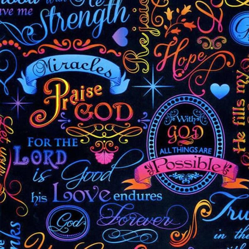 Timeless Treasures  Words of Faith FAITH-C4198 Brite image 0