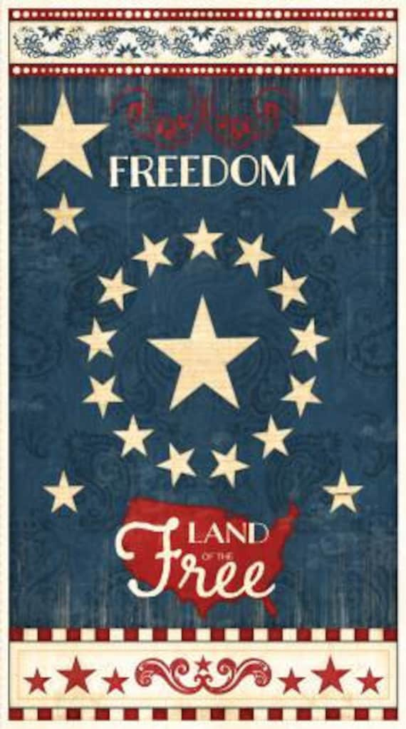 COLORS OF FREEDOM RED BY WILMINGTON PRINTS COTTON FABRIC FH-3780 BY YARD