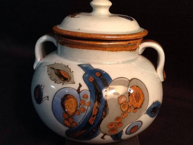 Vintage Tonala Pottery Bowl  Ken Edwards  Hand Painted Bean Pot  VERY RARE Fruit Design  1960/'s  Great Vintage Condition