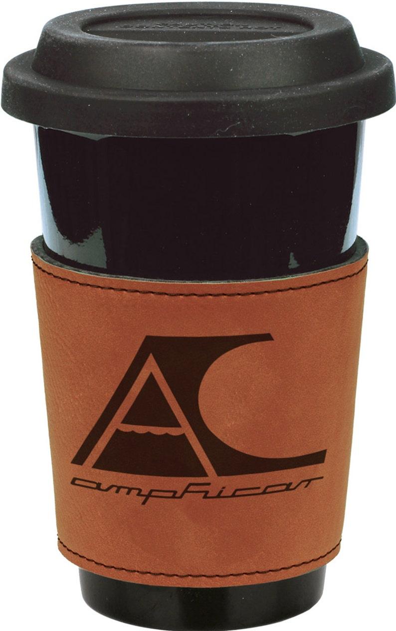 Personalized Amphicar 3 Rawhide Leatherette Mug Sleeve image 0