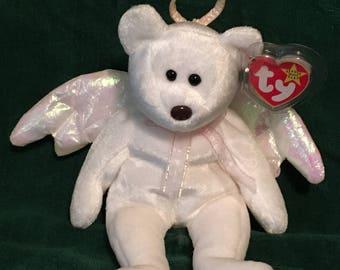 0b917061fd2 TY Beanie Baby - HALO the Angel Bear - Pristine w  Mint Tags - RETIRED