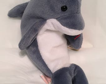 1b16e6a09ae TY Beanie Baby - ECHO the Dolphin - Pristine with Mint Tags - PE Pellets -  Retired