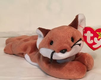 b17f78c590f TY Beanie Baby - SLY the Fox - Pristine with Mint Tags - PE Pellets -  Retired