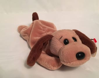 4a9a179e3ff TY Beanie Baby - BONES the Hound Dog - Pristine with Mint Tags - PE Pellets  - Retired