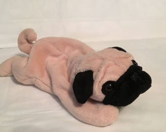 TY Beanie Baby - PUGSLY the Pug Dog - Pristine with Mint Tags - PVC Pellets  - Retired a21d4bdac7