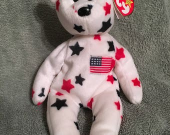 0568ee31d40 TY Beanie Baby - GLORY the Teddy Bear - Pristine with Mint Tags - Retired