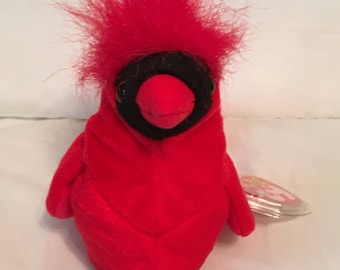 6047fbec1b8 TY Beanie Baby - MAC the Red Cardinal - Pristine with Mint Tags - RETIRED