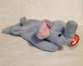 f529fb2c020 TY Beanie Baby - PEANUT the Elephant - Pristine with Mint Tags - PE Pellets  - Retired