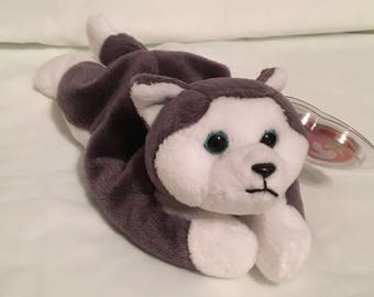 dceb19bca74 TY Beanie Baby - NANOOK the Husky Dog - Pristine with Mint Tags - PE  Pellets - Retired
