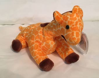 63a73005844 TY Beanie Baby - TWIGS the Giraffe - Pristine with Mint Tags - PVC Pellets  - Retired