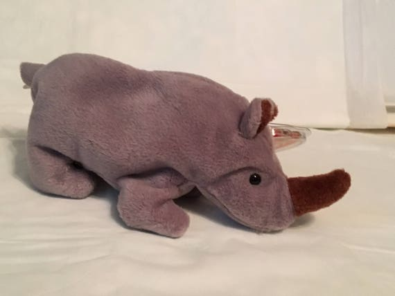 Ty Beanie Baby ~ SPIKE the Rhino ~ MINT with MINT TAGS ~ RETIRED