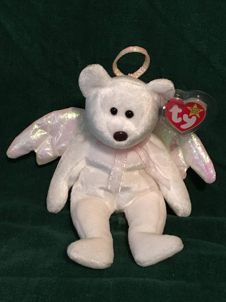 22db657ca0a TY Beanie Baby HALO the Angel Bear Pristine w  Mint Tags