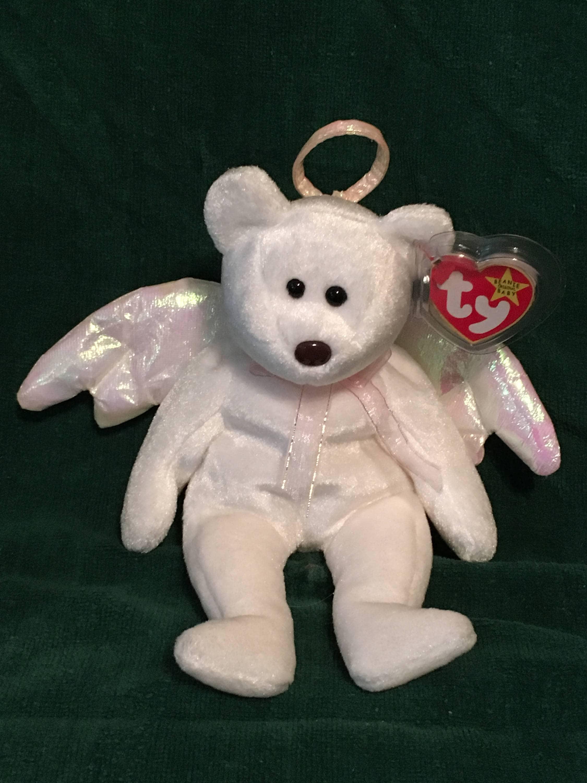 TY Beanie Baby HALO the Angel Bear Pristine w  Mint Tags  211a043f99b