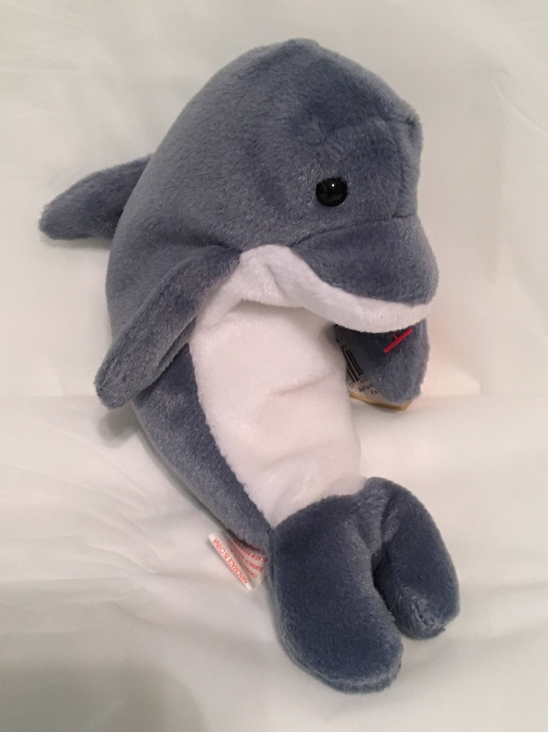 591156656e4 TY Beanie Baby ECHO the Dolphin Pristine with Mint Tags