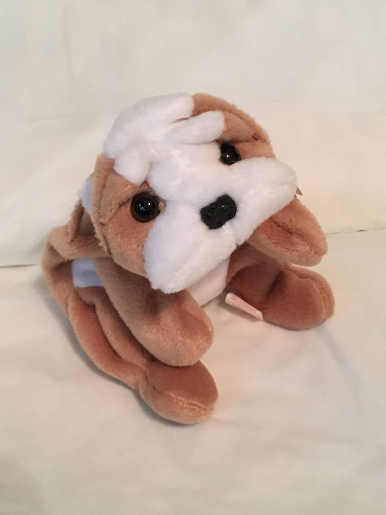 TY Beanie Baby WRINKLES the Dog Pristine with Mint Tags  1c544e226e29