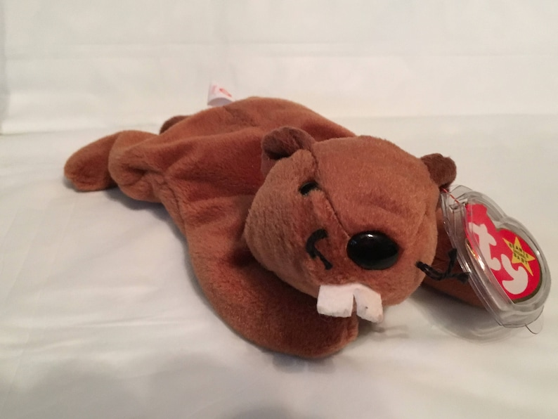 52ddde483e5 TY Beanie Baby BUCKY the Beaver Pristine with Mint Tags