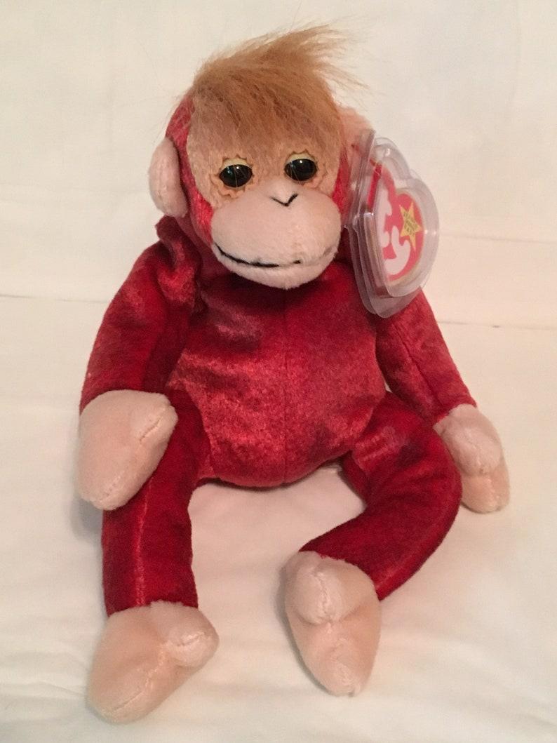 55f73da73e6 TY Beanie Baby SCHWEETHEART the Orangutan Pristine with