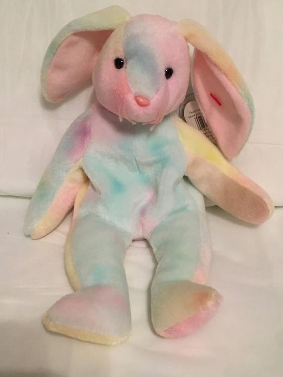 754c83c481b TY Beanie Baby HIPPIE the Bunny Rabbit Pristine with Mint