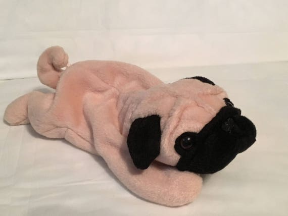 TY Beanie Baby PUGSLY the Pug Dog Pristine with Mint Tags  af437dc193a