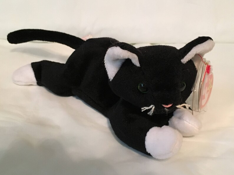 8be53dc852f TY Beanie Baby ZIP the Cat Pristine with Mint Tags PVC