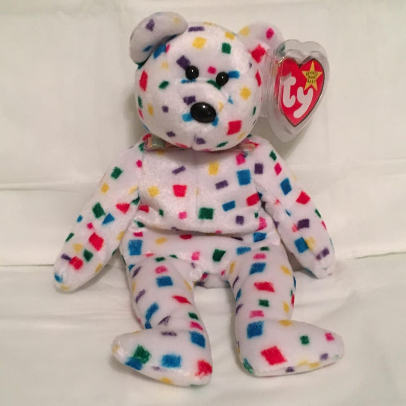 ad4b3b765e6 TY Beanie Baby TY 2K the Colorful Bear Pristine with Mint