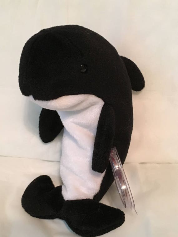 TY Beanie Baby WAVES the Orca Whale Pristine with Mint  6341b87f4079
