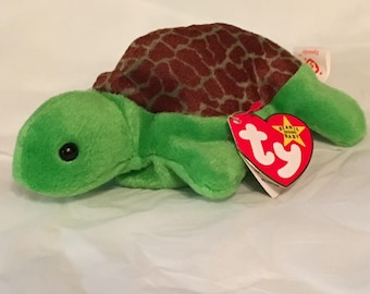 TY Beanie Baby - SPEEDY the Turtle - Pristine with Mint Tags - PVC Pellets - Retired